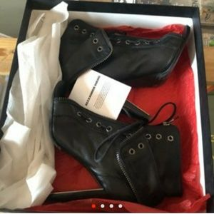 Alexander Wang Freja lace up zipper booties
